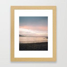 Coles Bay Sunset Seagull Framed Art Print