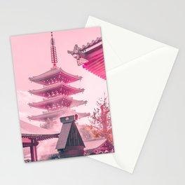 Pink Senso-Ji Stationery Cards
