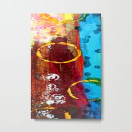 Mixed Media Abstract One Metal Print