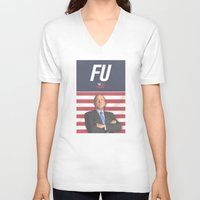 house of cards V-neck T-shirts featuring House of Cards / Campaign Poster I by Earl of Grey