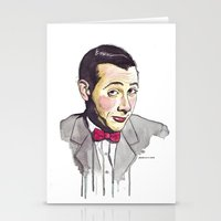 pee wee Stationery Cards featuring Pee Wee by Jesse Robinson Williams