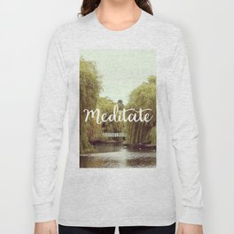 Meditate in the park Long Sleeve T-shirt