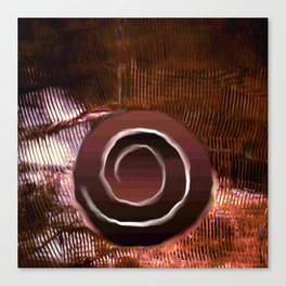 White spiral on brown Canvas Print