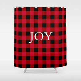 Joy Red Buffalo Check Shower Curtain