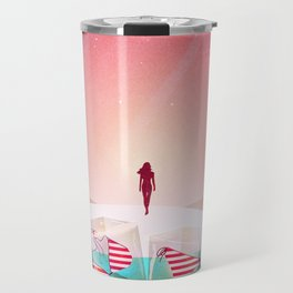 Bikini Beach Travel Mug