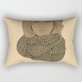 Scarf Girl Rectangular Pillow
