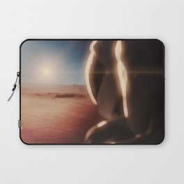 SpaceX Mission to Mars Martian Astronaut on Martian Landscape Laptop Sleeve