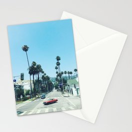 beverly hills streets Stationery Cards