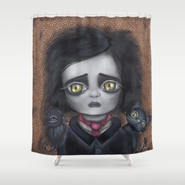 Young Poe Shower Curtain