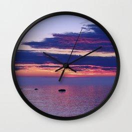 Dusk Reflected Wall Clock