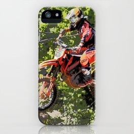 High Flying Racer - Motocross Champ iPhone Case