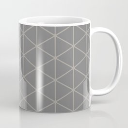 STAMEN popular taupe pattern with beige linear triangles Coffee Mug