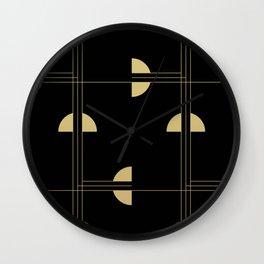 Art Deco / Black Cat Eye Pattern Wall Clock