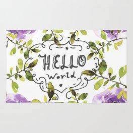 Hello world (everyday 7/365) Rug