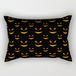 Cool scary Jack O'Lantern face Halloween pattern Rectangular Pillow