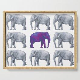 Elephants II Serving Tray