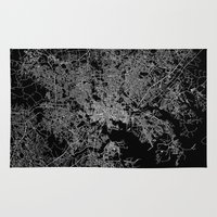 maryland Area & Throw Rugs featuring Baltimore map Maryland by Line Line Lines
