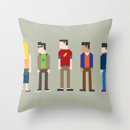 The Big Bang Theory 8-Bit Throw Pillow