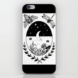 Moon River Marsh Illustration iPhone Skin