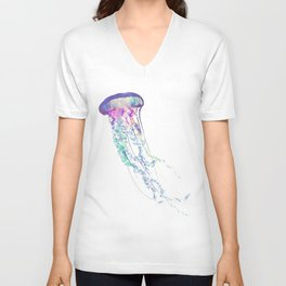 jellyfish Unisex V-Neck