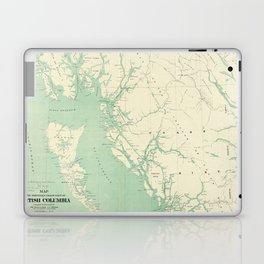 Vintage Map of British Columbia (1893) Laptop & iPad Skin