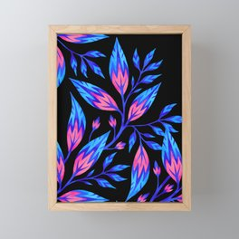Frondescence - Blue / Pink Framed Mini Art Print