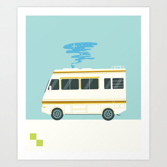 A Badly Broken RV Art Print