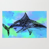 shark Area & Throw Rugs featuring Shark by Riaora Creations