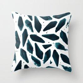 Deep Sea Teal Throw Pillow