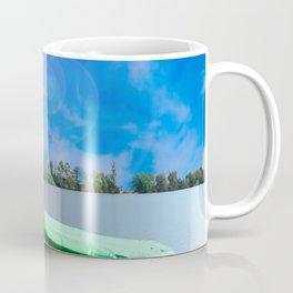 two boats at a lake Coffee Mug