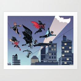 Batfam Forever Art Print