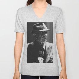 Leonard Cohen concert photo Unisex V-Neck
