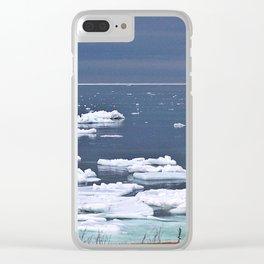 Icebergs on a Calm Sea Clear iPhone Case