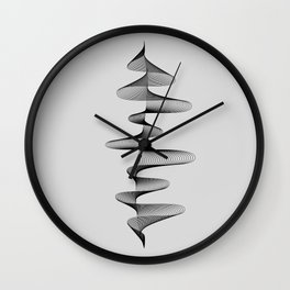 Abstract 80s Soundwave Art Music Audio black and white Musical design home wall bedroom decor Art Pr Wall Clock
