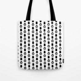 Alien Eggs Pattern White and Black Tote Bag
