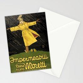 impermeabili moretti. 1921  Affiche Stationery Cards