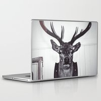 antlers Laptop & iPad Skins featuring Antlers  by Mark Spence