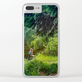 Forest inhabitant Clear iPhone Case