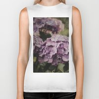 hydrangea Biker Tanks featuring Purple Hydrangea by Pure Nature Photos