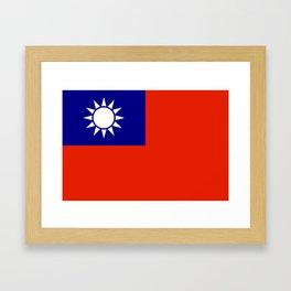 taiwan flag Framed Art Print