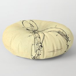 Old Patent Drawing Floor Pillow