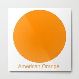 American Orange Metal Print