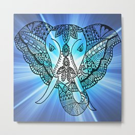 Mystical Elephant with magical powers Metal Print