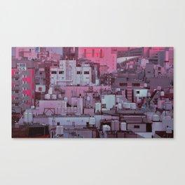 Fukuoka Pastel Canvas Print