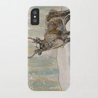 reindeer iPhone & iPod Cases featuring Reindeer by Meredith Mackworth-Praed