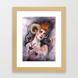 Queen of Moths Framed Art Print