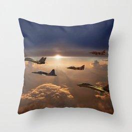 The Flight Home Throw Pillow