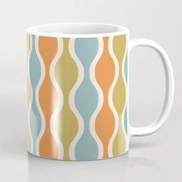 Classic Retro Ogee Pattern 842 Orange Blue and Olive Coffee Mug