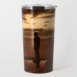 Another Place on Crosby Beach Travel Mug
