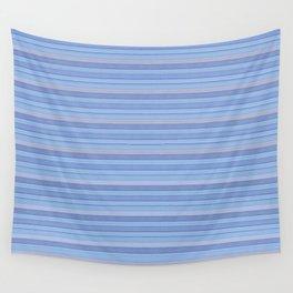 Sky Blue Striped Pattern Wall Tapestry